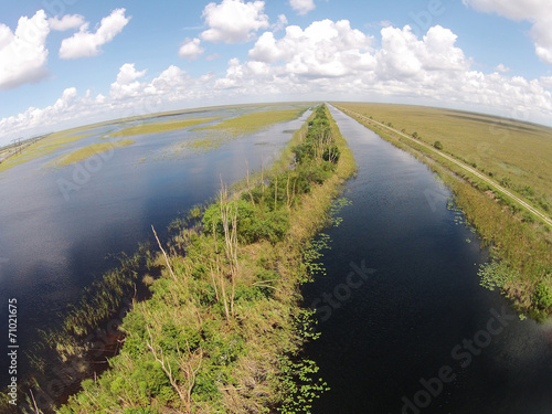 Florida Everglades aerial view