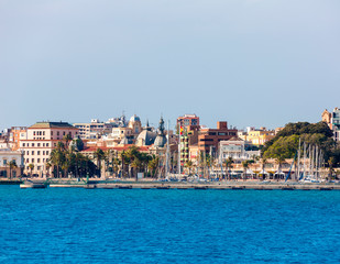 Cartagena skyline Murcia at Mediterranean Spain