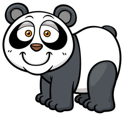 Vector illustration of panda cartoon