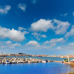 Cartagena Murcia port marina in Spain