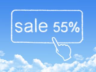 sale 55% message cloud shape