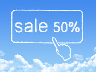 sale 50% message cloud shape