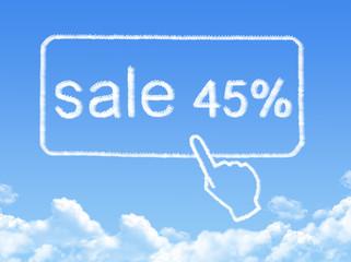 sale 45% message cloud shape