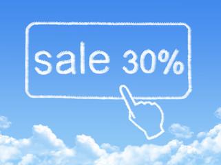 sale 30% message cloud shape