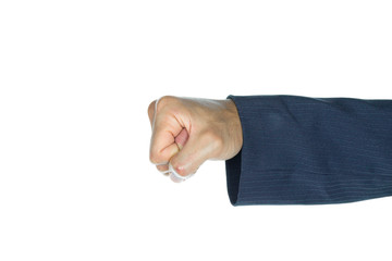 Businessman Fist or Punching Isolated on White