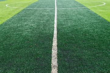 White Center Line On Football Field