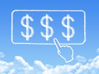 $ message cloud shape