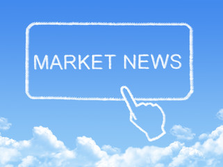 market news message cloud shape
