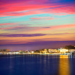 Cartagena Murcia port skyline in Spain