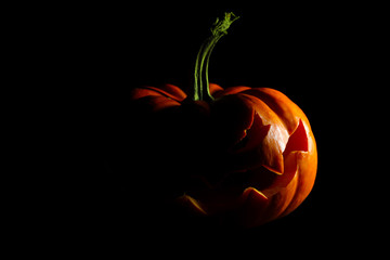 Halloween jack o' lantern silhouette