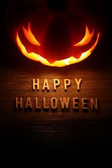 Spooky Halloween background with jack o lantern - Happy Hallowee