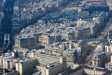 Panorama of buildings in Paris