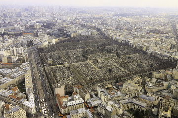 View from top on cemetery on Montparnasse