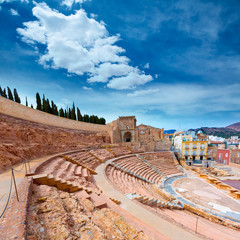 Cartagena Roman Amphitheater in Murcia Spain