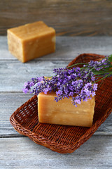 two bars of soap and lavender