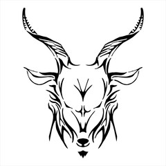 goat head tribe tattoo vector