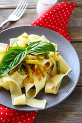 pasta with roasted carrots and green beans