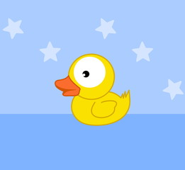 a toy duckling bath