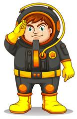 A fat astronaut
