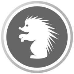a hedgehog in a grey Panel