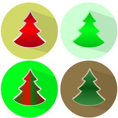 значёк новогодняя елка