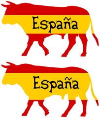 a bull bred in Spain