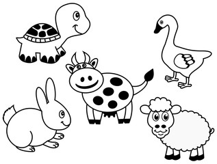 representation of a group of animals