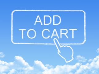 Add to cart message cloud shape
