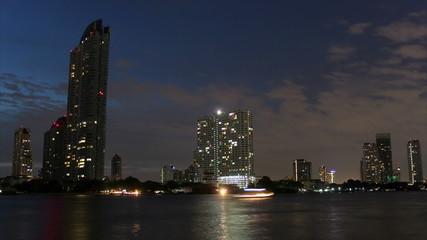 Night river in Bangkok