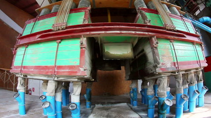 Separators for the production of wheat flour in operation
