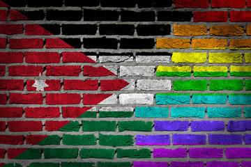 Dark brick wall - LGBT rights - Jordan