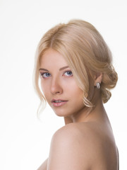 Young women with blond hair