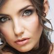 Beauty close up portrait. Woman face.