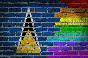 Dark brick wall - LGBT rights - Saint Lucia