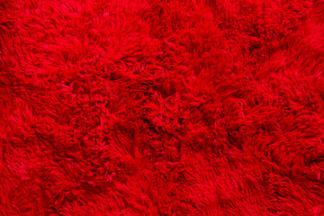 red furry fabric, texture, background