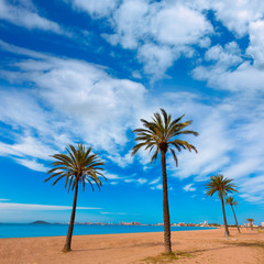 Playa Paraiso beach in Manga Mar Menor Murcia