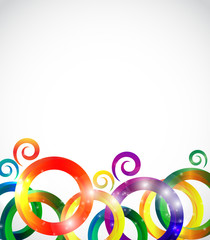 Abstract Bright Background Vector Illustration