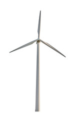 wind power generator on white