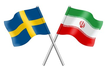 Flags: Sweden and Iran