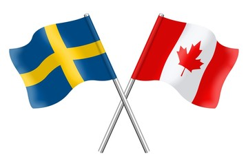 Flags: Sweden and Canada