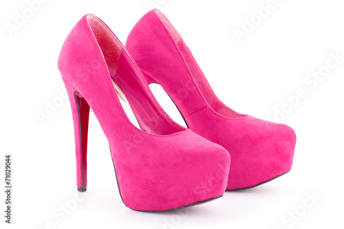 canvas print picture Pink shoes