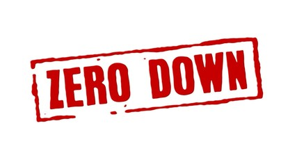 Zero Down Red Stamp Transition