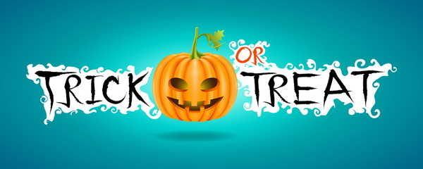 Poster and banner or background for Trick or Treat,Halloween day