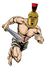 Trojan helmet warrior