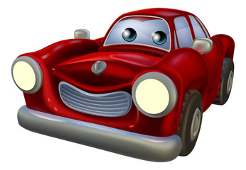 Cartoon car mascot
