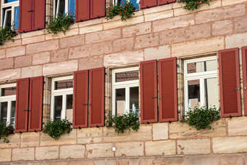 Windows on the historical building