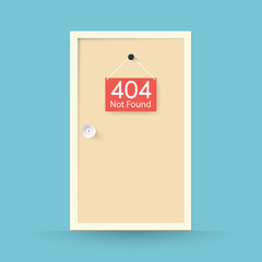 Page not found Error 404. door concept