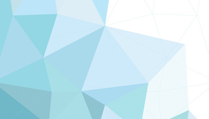 Shades of pastel blue polygon background