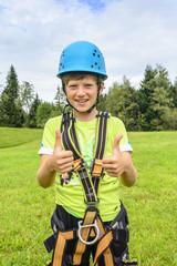 Vorfreude auf die Kletterpartie