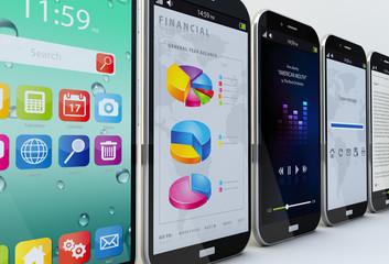 smartphones concept